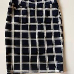 Lularoe Cassie Small Navy White Pencil Skirt